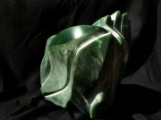 sculpture abstrait aventurine pierre semi precieus sculpture vert : bourgeon